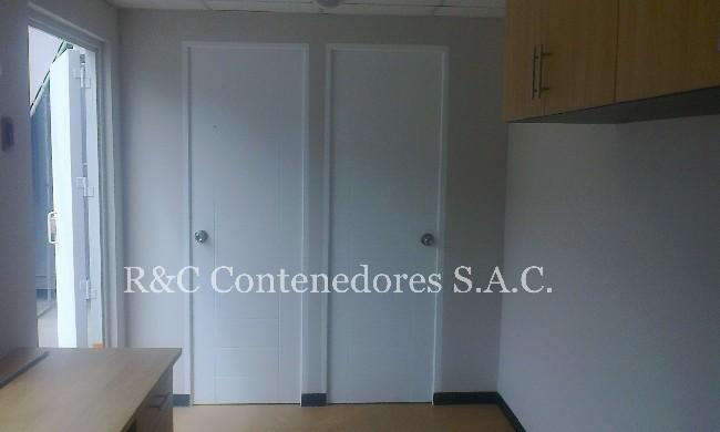 CONTENEDOR MODULO OFICINA CON BAÑO Y DEPOSITO 20 PIES